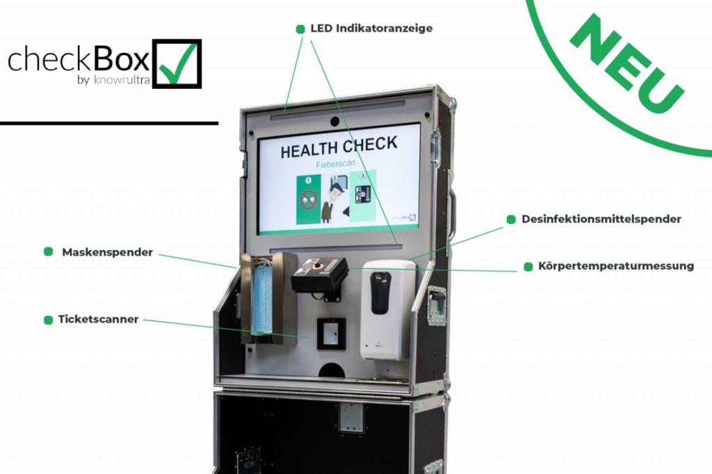 checkbox einlasskontrolle sicherheit corona flightcase gesundheitserkennung gesundheit