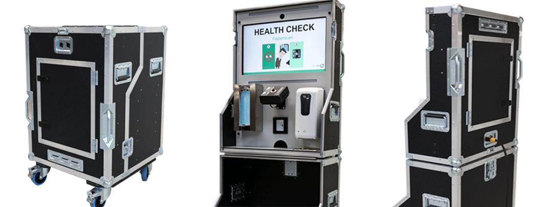 mobile corona checkbox flightcase gesundheitsprüfung