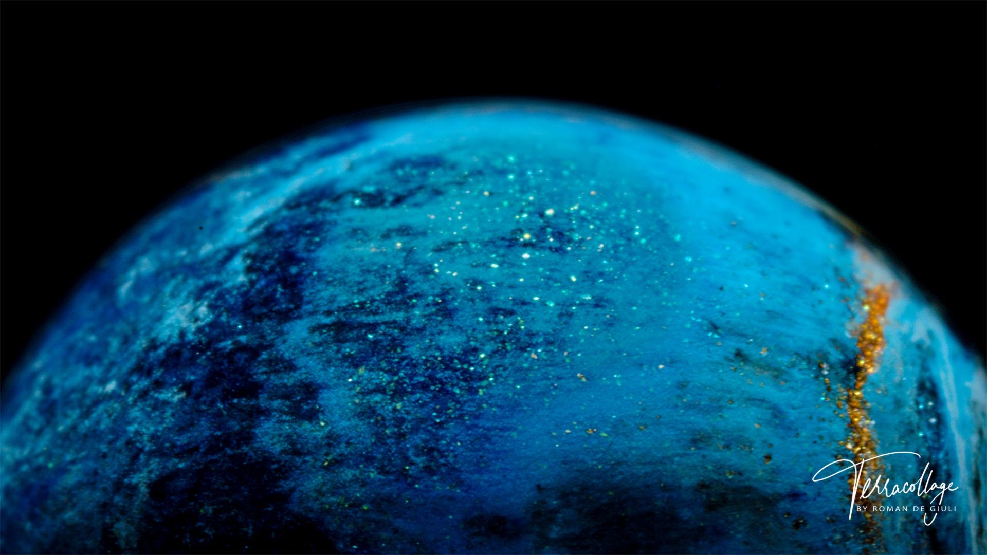 Terracollage SIGMA Starlit - terracollage 8k hdr macro colors by roman de giuli